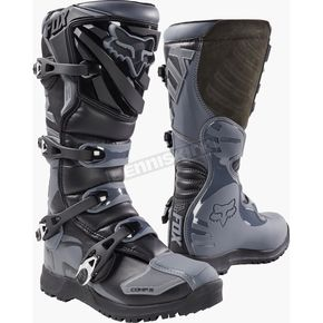 Fox Black/Gray Comp 5 Offroad Boots - 17780-014-10