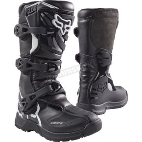 Fox Youth Black Comp 3 Boots - 18238-001-2