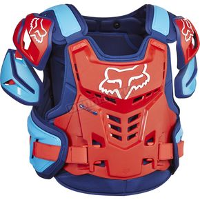 Fox Blue/Red Raptor CE Chest Deflector - 12351-149-S/M