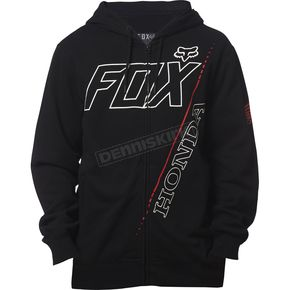 Fox Black Honda Premium Zip Hoody - 18983-001-S