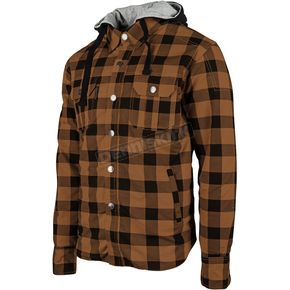 Speed and Strength Brown Standard Supply Moto Shirt - 884233