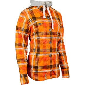Speed and Strength Women's Orange True Romance Moto Shirt - 884256