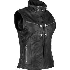 Speed and Strength Women's Black Hell's Belles Leather Vest - 884297