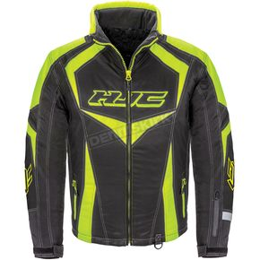 HJC Black/Hi-Viz Neon Green Survivor Jacket - 1613-032