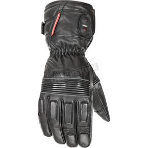 Joe Rocket Black Rocket Leather Burner Heated Cold Weather Gloves - 1522-1002