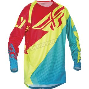 Fly Racing Dark Teal/Hi-Vis Evolution 2.0 Jersey - 370-229L