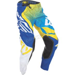 Fly Racing Blue/Yellow/White Evolution 2.0 Pants - 370-23136