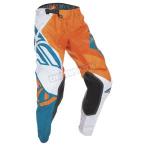 Fly Racing Orange/Dark Teal Evolution 2.0 Pants - 370-23728
