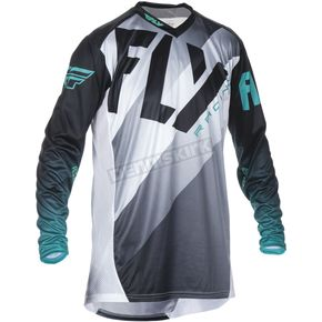 Fly Racing Black/White/Teal Lite Hydrogen Jersey - 370-720S
