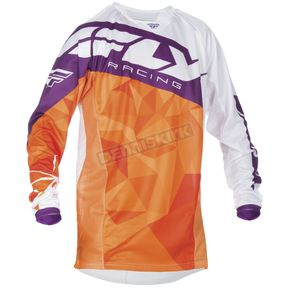 Fly Racing Youth Orange/Purple Kinetic Crux Jersey - 370-527YX