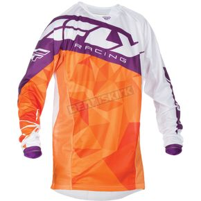 Fly Racing Orange/Purple Kinetic Crux Jersey - 370-527X