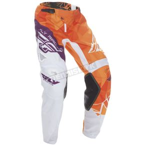 Fly Racing Youth Orange/Purple Kinetic Crux Pants - 370-53722