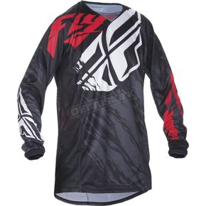 Fly Racing Black/Red Kinetic Relapse Jersey - 370-420L