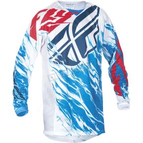 Fly Racing Youth Red/White/Blue Kinetic Relapse Jersey - 370-422YS