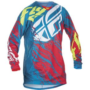 Fly Racing Teal/Red Kinetic Relapse Jersey - 370-429X