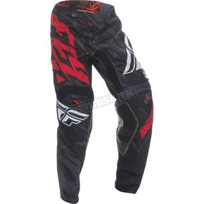 Fly Racing Youth Black/Red Kinetic Relapse Pants - 370-43020