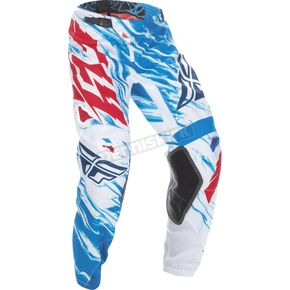 Fly Racing Youth Red/White/Blue Kinetic Relapse Pants - 370-43224