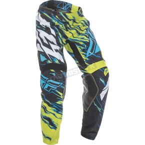 Fly Racing Lime/Blue Kinetic Relapse Pants - 370-43538