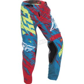 Fly Racing Teal/Red Kinetic Relapse Pants - 370-43932