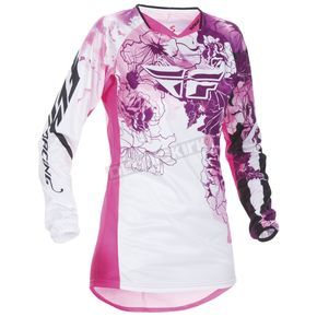 Fly Racing Youth Girl's Pink/Purple Kinetic Jersey - 370-622YX