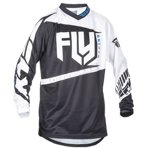 Fly Racing Youth Black/White F-16 Jersey - 370-920YM