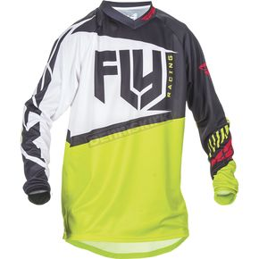 Fly Racing Black/Lime F-16 Jersey - 370-925M