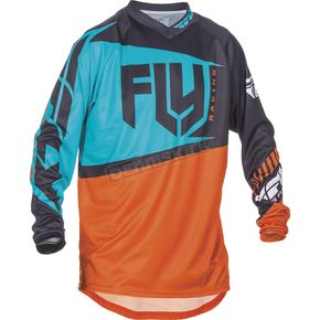 Fly Racing Youth Orange/Teal F-16 Jersey - 370-927YX
