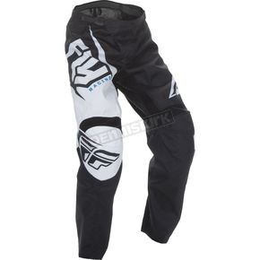 Fly Racing Youth Black/White F-16 Pants - 370-93022