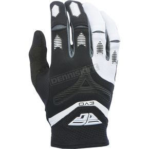 Fly Racing Black/White Evolution 2.0 Gloves - 370-11011