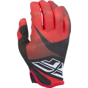Fly Racing Red/Black/White Lite Gloves - 370-01210