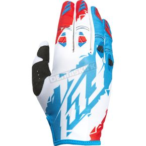 Fly Racing Red/White/Blue Kinetic Gloves - 370-41108