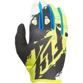 Fly Racing Youth Black/Lime Kinetic Gloves - 370-41506