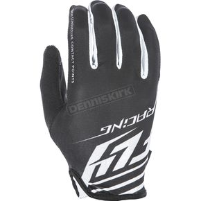 Fly Racing Black/White Media Gloves - 350-07411