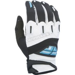 Fly Racing Black/White F-16 Gloves - 370-91008