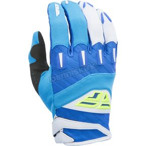 Fly Racing Blue/Hi-Vis F-16 Gloves - 370-91112