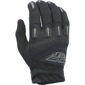 Fly Racing Youth Black F-16 Gloves - 370-91406