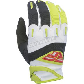 Fly Racing Youth Black/Lime F-16 Gloves - 370-91503