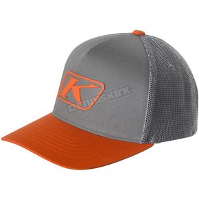 Klim Gray/Orange Icon Snapback Hat - 3723-000-000-600