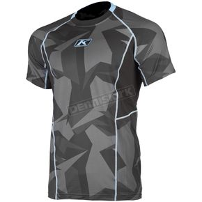 Klim Gray Camo Aggressor Cool -1.0 Short Sleeve Base Layer Shirt - 3503-000-130-330