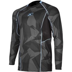 Klim Gray Camo Aggressor Cool -1.0 Long Sleeve Base Layer Shirt - 3504-000-130-330