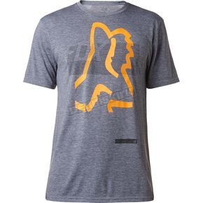 Fox Heather Graphite Kamakana Tech T-Shirt - 18841-185-XL