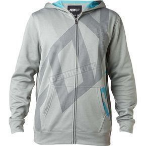 Fox Heather Gray Hydratix Closed Circuit Zip-Up Hoody - 18864-040-2X