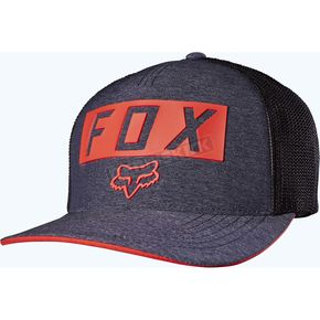 Fox Heather Navy Moth Stacked Flex-Fit Hat - 18743-428-S/M