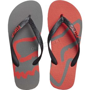 Fox Graphite/Red Beached Flip Flops - 20171-103-12