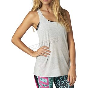Fox Women's Light Heather Gray Miss Clean Racer Tank - 15880-416-M