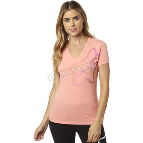 Fox Women's Melon Perfor V-Neck T-Shirt - 18551-413-L
