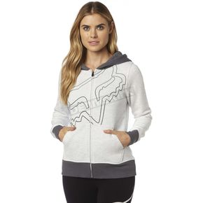 Fox Women's Light Heather Gray Eyecon Zip Hoody - 18587-416-XS