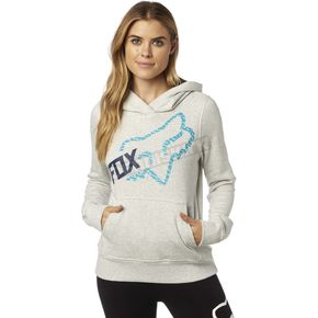 Fox Women's Light Heather Gray Reacted Hoody - 19057-416-L