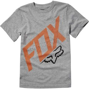 Fox Youth Heather Gray Closed Circuit T-Shirt - 19884-040-YS