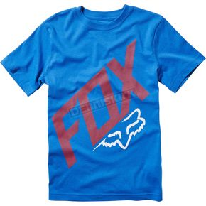 Fox Youth True Blue Closed Circuit T-Shirt - 19884-188-YXL